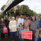 Residents had urged TFL to fix the footbridge before a child is killed. Pic credit: Jan Nevill