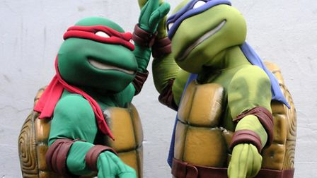 Teenage Mutant Ninja Turtles Raphael, left, and Michelangelo will be at Brent Cross shopping centre