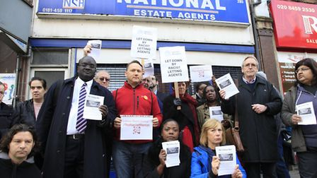 Protestors gathered in Willesden. Picture credit: Jan Nevill