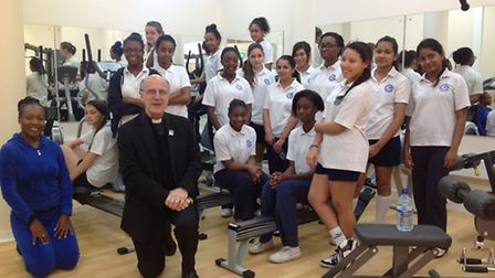 Mgr Vladimir Felzmann met staff and students at Convent of Jesus and Mary Language College