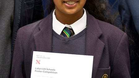Lisa Patel with her certificate