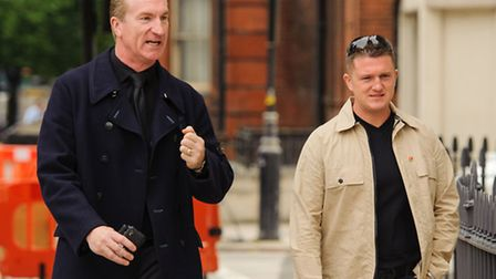 Kevin Carroll (left) and Tommy Robinson are set to leave EDL (Pic credit: PA News)