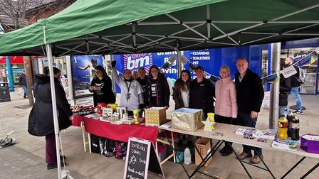 A recent Surviving United street stall in Lowestoft, where the group raised funds to go towards runn