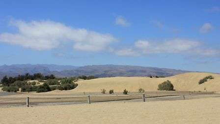 The sand dunes at Playa del Ingles