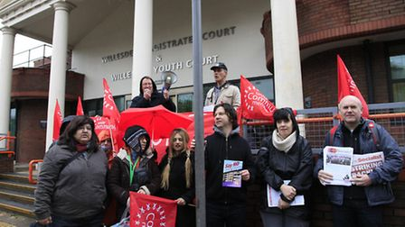 Protestors outside Willesden Magistrates' Court (pic credit: Jan Nevill)