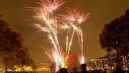 Londoners watch fireworks display organised by local Residents Association, on 30 October 2011. Arun