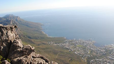 The stunning scene from the top of Table Mountain