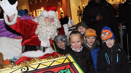 Children meet Father Christmas at the event