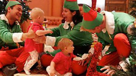 Children get into the festive spirit at Enchanted House