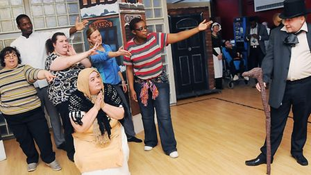 Staff and service users from Daylight during their dress rehearsal Pic: Dieter Perry