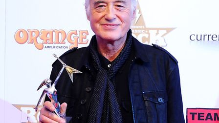 Jimmy Page popped in to pay his respects Pic: Ian West/PA