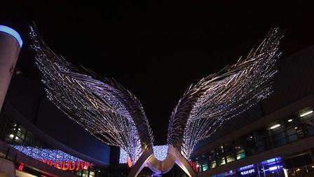 The centre's iconic wings