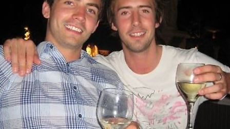 Ben Farrell (left), with brother Oli who died after an incident on Essex Road on Sunday