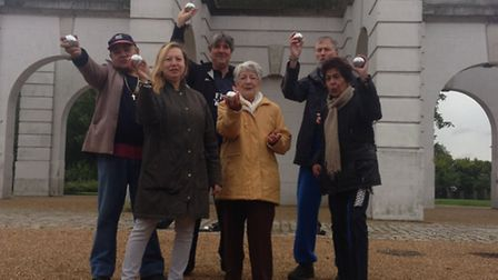 The Drovers Centre boules team