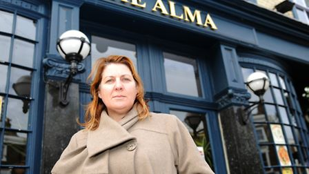 Kirsty Valentine outside The Alma Pub, which she ran for 11 years
