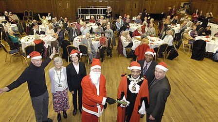 The town hall have given up their Christmas party to host a slap-up feast for the elderly