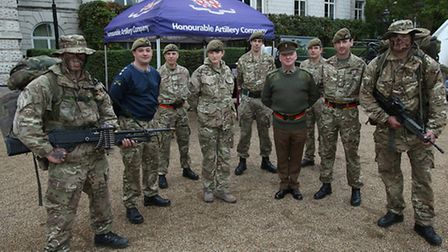 Members of the Honourable Artillery Company took part in the drive Pic: Stewart Turkington
