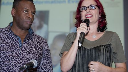 David and Carrie Grant speaking at Islington's adoption evening