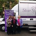 Sarah Teather, second right, with workers from Silver Star