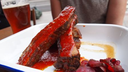 The ribs were epic