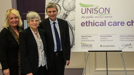 Cllr Janet Burgess and Cllr Richard Watts join Southwark Council and UNISOn at Ethical Care Charter