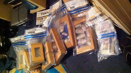 Police seized drugs and money at an address in Stonebridge