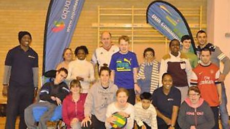 Paralympian John Worrall with children from Sobell Lesuire Centre