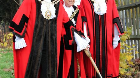 The Speaker of Hackney Council, Cllr Michael Desmond, with Mayor of Haringey Cllr Sheila Peacock and