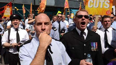 Firefighters are on strike between 6pm - 10pm tongiht