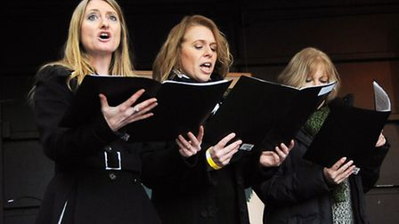 Nag's Head Christmas extravaganza. performing on the main stage are the Council Choir. Credit Diete