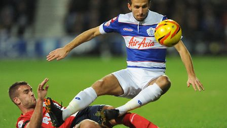 Gary O'Neil is tackled by Blackburn's Gary Spurr during Saturday's 0-0 draw
