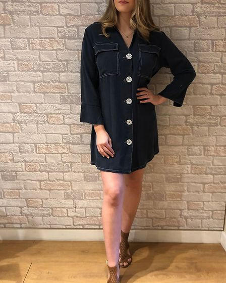Navy shirt dress, from Match, in Lowestoft. Picture: Niki Low