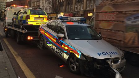 Police are 'unaware' of this smash in Wembley High Road (pic credit: Francis Henry)