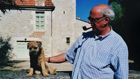 Avon Priestly, pictured with his furry friend, Bertie