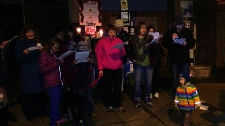 Carol singing took place outside the close Cricklewood Library