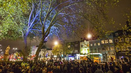 Chanukah celebrations on Islington Green