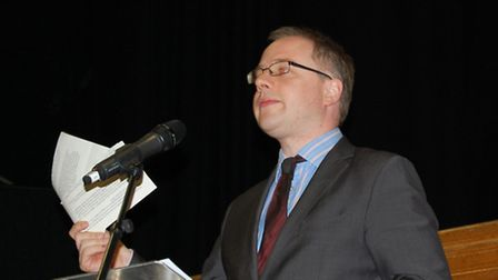 Cllr Richard Watts at the disability event