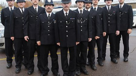 Islington police officers Pic: Dieter Perry