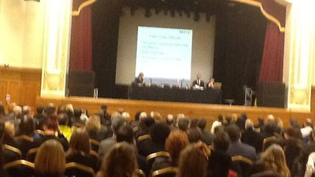 Islington Assembly Hall for the packed out training session