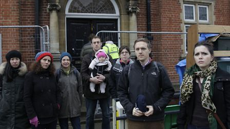 Cllr Roxanne Mashari and Cllr James Denselow joins concerned residents (pic credit: Jan Nevill)