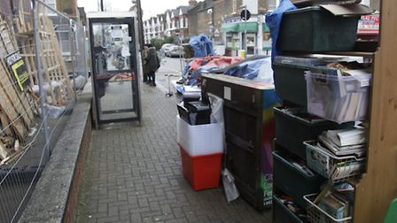 Kensal Rise pop-up library was destroyed earlier today (pic credit: Jan Nevill)