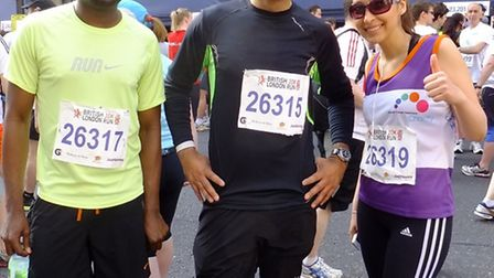 Charity's runners at last year's event