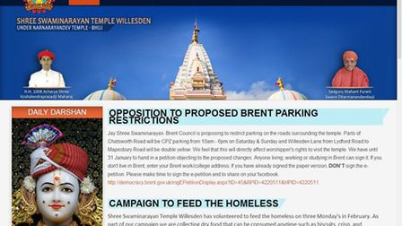 The temple's website is encouraging worshippers to sign a petition against the changes