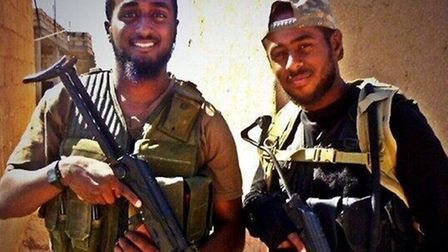 Akram Sebah (left) and brother Mohamed - picture of the two which was sent out on social media, decl