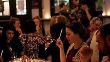 A wine and smells event for Valentine's Day