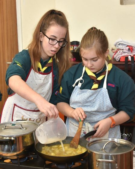 1st Pakefield at the Lowestoft District Scouts cookery competition. Pictures: Mick Howes