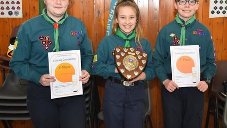 Winner 2nd Carlton Colville, after triumphing at the Lowestoft District Scouts cookery competition.