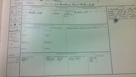 Nine wartime registers have been uncovered in the college