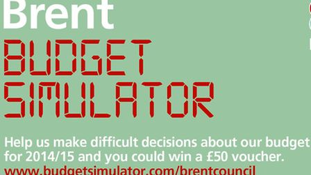 Brent Council are offering �50 to six residents who use their budget simulator