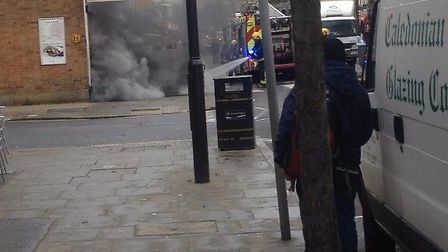 Firefighters from Islington tackled the blaze
